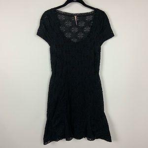 Free People lace black short dress